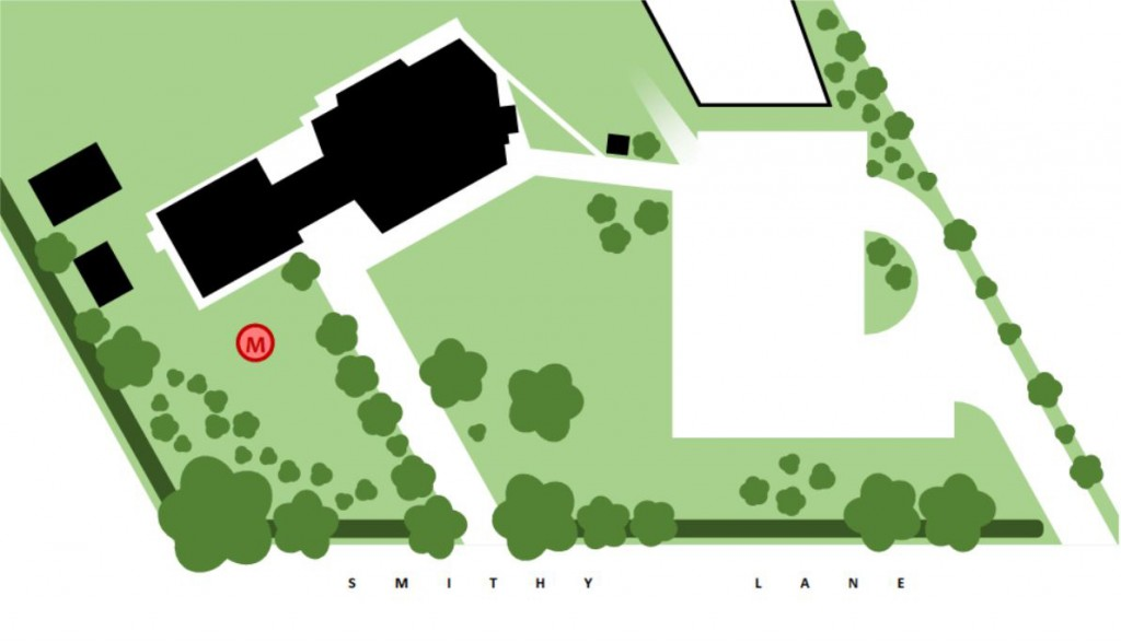 Location of the monument at Scarisbrick Village Hall.