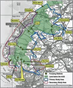 Alt-Crossens - pumped catchment (EA map)