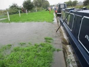 Heatons Bridge-culvert under canal overwhelmed